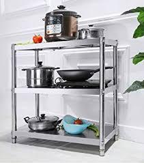 cuisine pratique et facile guo shop racks de cuisine étagère en acier inoxydable multi