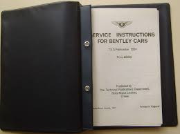bentley pre 1939 3 u0026 4 litre service instructions tsd 2224 1967