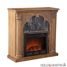chimney free electric fireplace and tv stand of oak wood