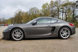 porsche side view gray porsche 981 cayman coupe side view editorial stock image