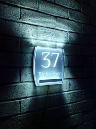 Lighted House Number Sign 28 Best House Numbers Images On Pinterest Address Signs House
