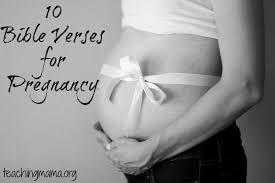 bible verses pregnancy