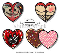 vector happy valentines day stickers set stock vector 575858089