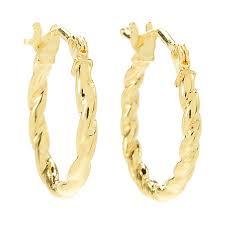 14k gold hoop earrings stefano oro jolly 14k gold hoop earrings