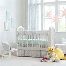 Baby Nursery Bedding Sets Neutral Gray And Mint Quatrefoil Crib Bedding Grey