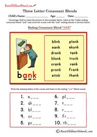 three letter blends ending consonant blends aussie childcare