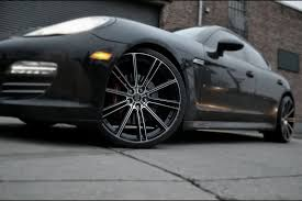 matte black porsche panamera porsche panamera flow black machined gwg wheels