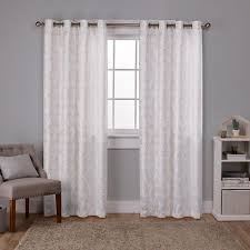 Winter Window Curtains Watford Winter White Gold Distressed Metallic Print Thermal