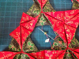 little by little by bossymamma folded fabric christmas tree a