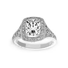 cushion diamond ring preville josephine cushion cut diamond halo engagement ring