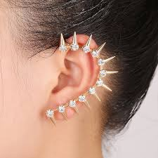 top earings fashion jewelry europe and america inlay personality