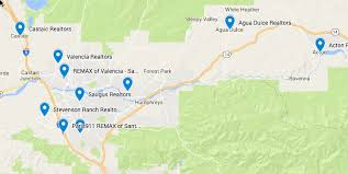 santa clarita map remax of santa clarita local city map for estate service re
