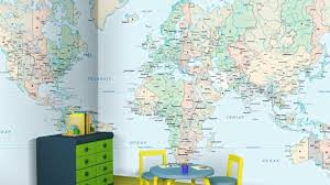 Map Wallpaper Vintage World Map Wallpaper Home Décor Thestore Com Youtube