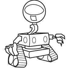 eyed robot coloring pages place color
