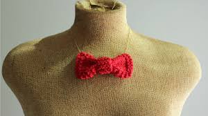 bow necklace diy images Diy how to make a knit bow necklace a common thread png