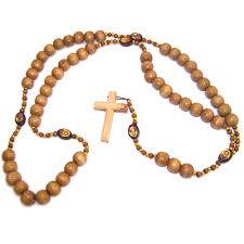 wooden rosaries smooth large olive wood rosary 62 cm or 24 5