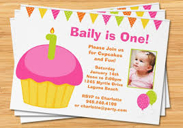 1st birthday party invitations with photo