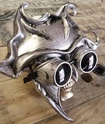 steunk masquerade mask silver pewter steunk venetian sun ballroom