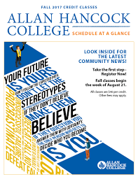 Catalog Allan Hancock College Schedules U0026 Catalog