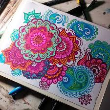 printable colorful mandala drawing mediafoxstudio