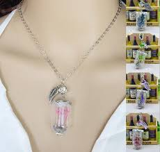 glass flower necklace images Wholesale glass dry flower necklace real flower bottle necklace jpg