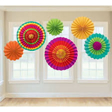amazon com fiesta paper fan decorations childrens party