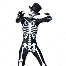 skeleton costume skeleton costume woman stock photo tsuneomp 126435484