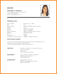 Biodata Format For Student | 8 student personal biodata form lease template