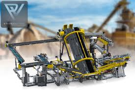 lego technic bucket wheel excavator lego gbc 15 42055 building instructions pv productions