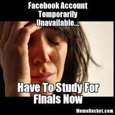 Create Facebook Meme - facebook account temporarily unavailable create your own meme