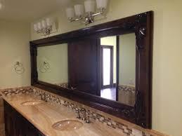 Framed Mirrors Bathroom Bathroom Cabinets Custom Mirrors Installed With Wood Frames