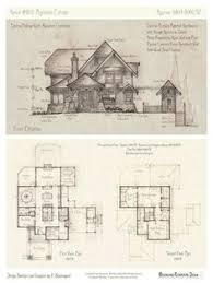 Storybook Cottage House Plans by House 334 Front Elevation First Floor Plan Description And
