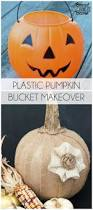 plastic light up halloween pumpkins plastic pumpkin bucket makeover bread booze bacon