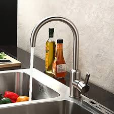 stainless steel kitchen faucets chrome finish contemporary brushed stainless steel kitchen faucet