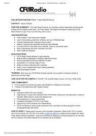 Meeting Deadlines Resume Cfuradio 88 7 Fm