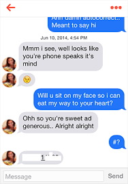 Picture of a flirty tinder conversation Tinder Seduction