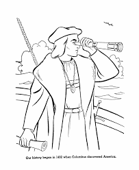 christopher columbus day coloring page american history coloring