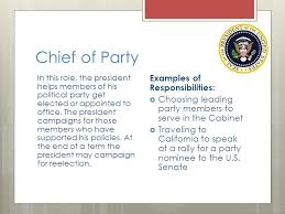 Cabinet Responsibilities Responsibilities Of The President Ppt Download