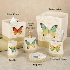 butterfly bliss bath accessories duck bathroom decor for
