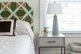 concrete lamp on gray metal nightstand transitional boy u0027s room