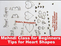 mehndi class for beginners basic tips for creating heart shapes
