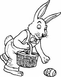 easter bunny basket coloring pages getcoloringpages