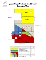 Zip Code Boundary Map by Queen Creek Az Unified District 2017 2018 Boundary Map