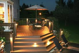 solar led deck step lights trex deck with stair riser and accent lights archadeck of bucks