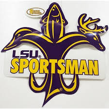lsu alumni sticker lsu decal sportsman fleur de lis 8