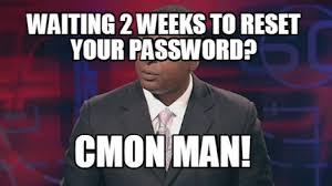 Private Meme Generator - meme creator waiting 2 weeks to reset your password cmon man