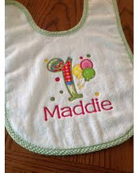 birthday bib spectacular deal on personalized baby girl applique balloon 1st