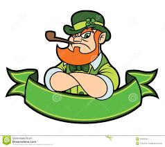 tough leprechaun over a banner stock photo image 29492530