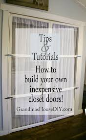 how to build your own inexpensive closet doors grandmas house diy