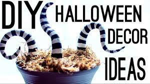 Diy Halloween Decorating Ideas by Diy Halloween Decor Ideas Youtube